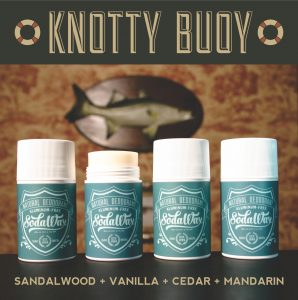 Knotty by nature…with all natural SodaWax. Pick up a stick today!