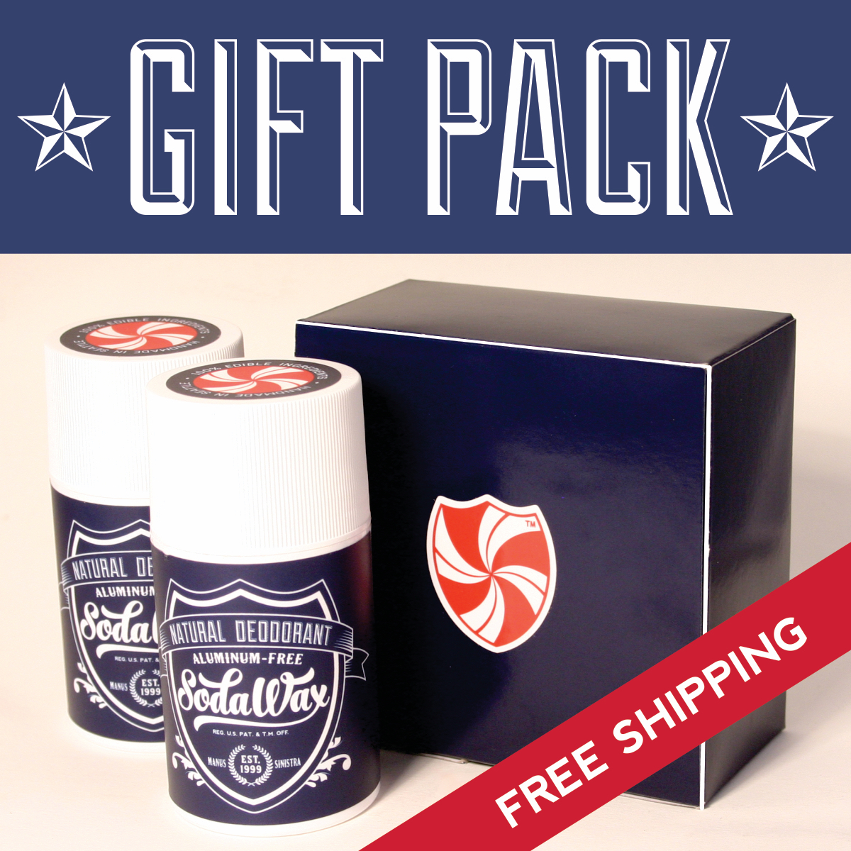 FREE SHIPPING! Personalized Gift Pack *Pick Any Two SodaWax Scents* (2×3.3oz/96g)