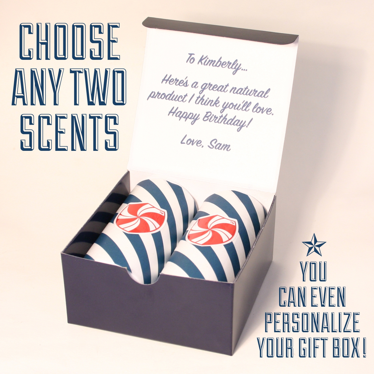 Personalized Gift Pack ~ Pick Any Two SodaWax Scents (2×3.3oz/96g)