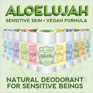 Baking Soda-Free Aloelujah™ Natural Deodorant for Sensitive Beings by SodaWax™